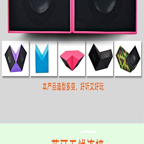 qiyanRubik'S Cube Bluetooth 4.1 Haut-Parleur sans Fil Ordinateur Subwoofer Surround Sound Creative Pliable Rouge