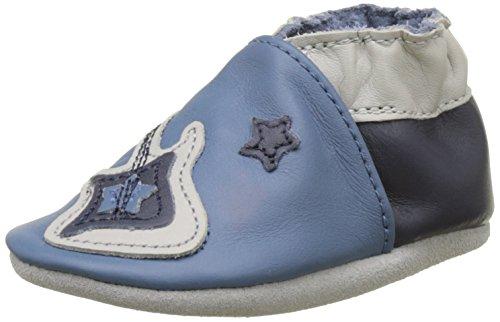 Robeez Superstar Rock, Chaussures de Naissance Bébé Garçon, Bleu (Bleu), 23/24 EU