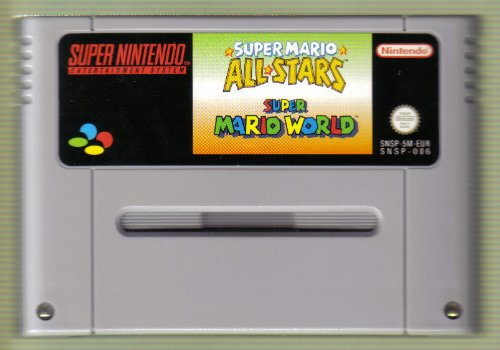 SNES Spiel: Super Mario All Stars + Super Mario World (2 in 1 Game) NUR DAS EINZELNE SPIEL-MODUL (für SNES Super Nintendo, PAL, deutsch) Super Mario World 2 Snes