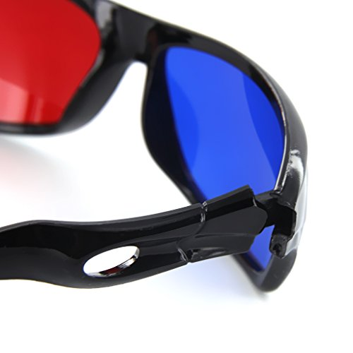 MagiDeal 3D Brille rot/blau Anaglyphen Brille Glasses fuer Filme Game Bild