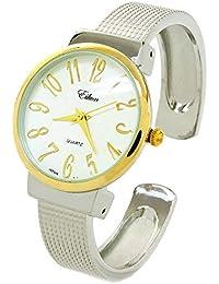 30f0739b15b9 STC Reloj de Pulsera para Mujer de 2 Tonos con Correa de Malla y Esfera  Grande