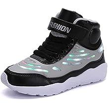 on sale 92bad f234e GJRRX Baskets Filles Chaussures Garçons LED Chaussures USB Rechargeable  pour Enfant Enfant Chaussures LED Basket LED