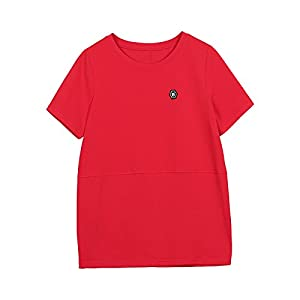 SLR Sommer-zufälliges zufälliges T-Shirt Loses dünnes Bügel-T-Shirt Normallack-Kurzschluss-Hülsen-T-Shirt