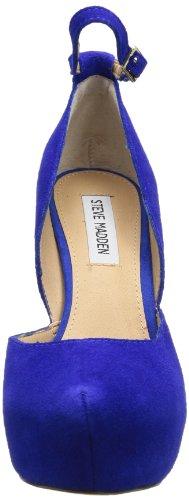Steve Madden  Zenn, chaussures compensées femme Bleu - Blau (Blue Suede)