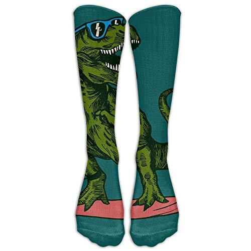 Dinosaurier Surfer Brille Athletic Tube Strümpfe Damen Herren Classics Kniestrümpfe Sport Long Sock One Size 50cm