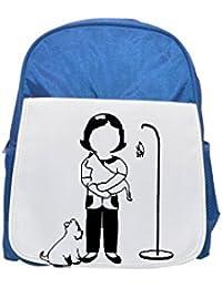 Fotomax Auxiliar de Veterinaria impreso Kid s azul mochila, para mochilas, cute small