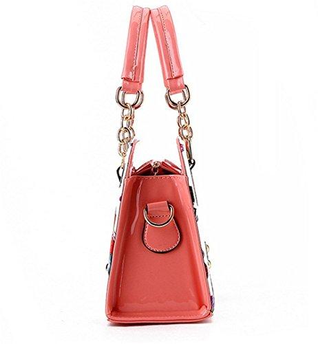 Honeymall Borse Donna,borse a mano donna Ragazza Moda Disegno Bella Giallo Rosso