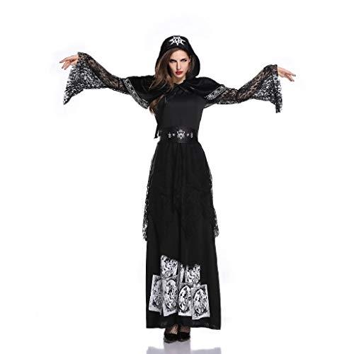 Volle Spandex Anzug - TcooLPE Halloween Cosplay Hexenspiel Anzug, Hexenkleid