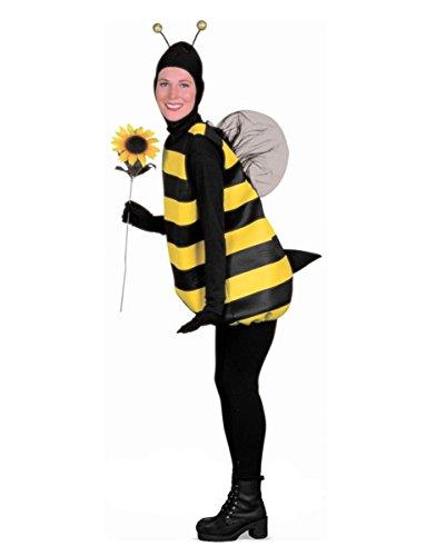 2-tlg. schwarz-gelbes Bumble Bee flotte Biene Kostüm für Damen