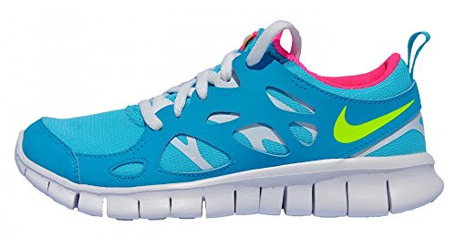 Nike Free Run 2 (GS) 477701-402 Kinder Laufschuhe Blau Weiß , Schuhgröße:EUR 36.5