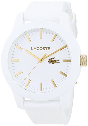Lacoste Mens Quartz Watch, Analogue Classic Display and Silicone Strap 2010819