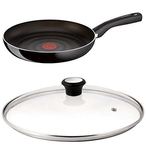 Tefal So Tasty 28 cm Non-Stick Frying Pan with Compatible Glass Lid Bundle
