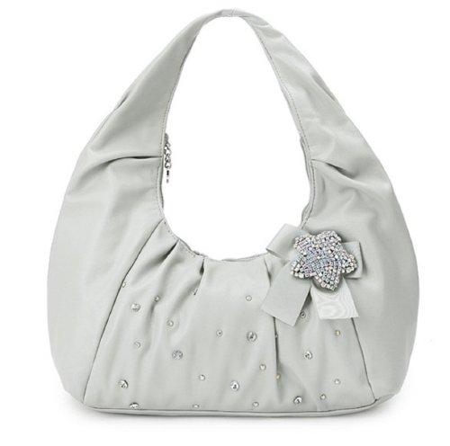 Elegante Tasche / Schultertasche mit Glassteine verziert Florenz EUR 47,90 , Ein Hinkucker, by bagsandbags.de Lila