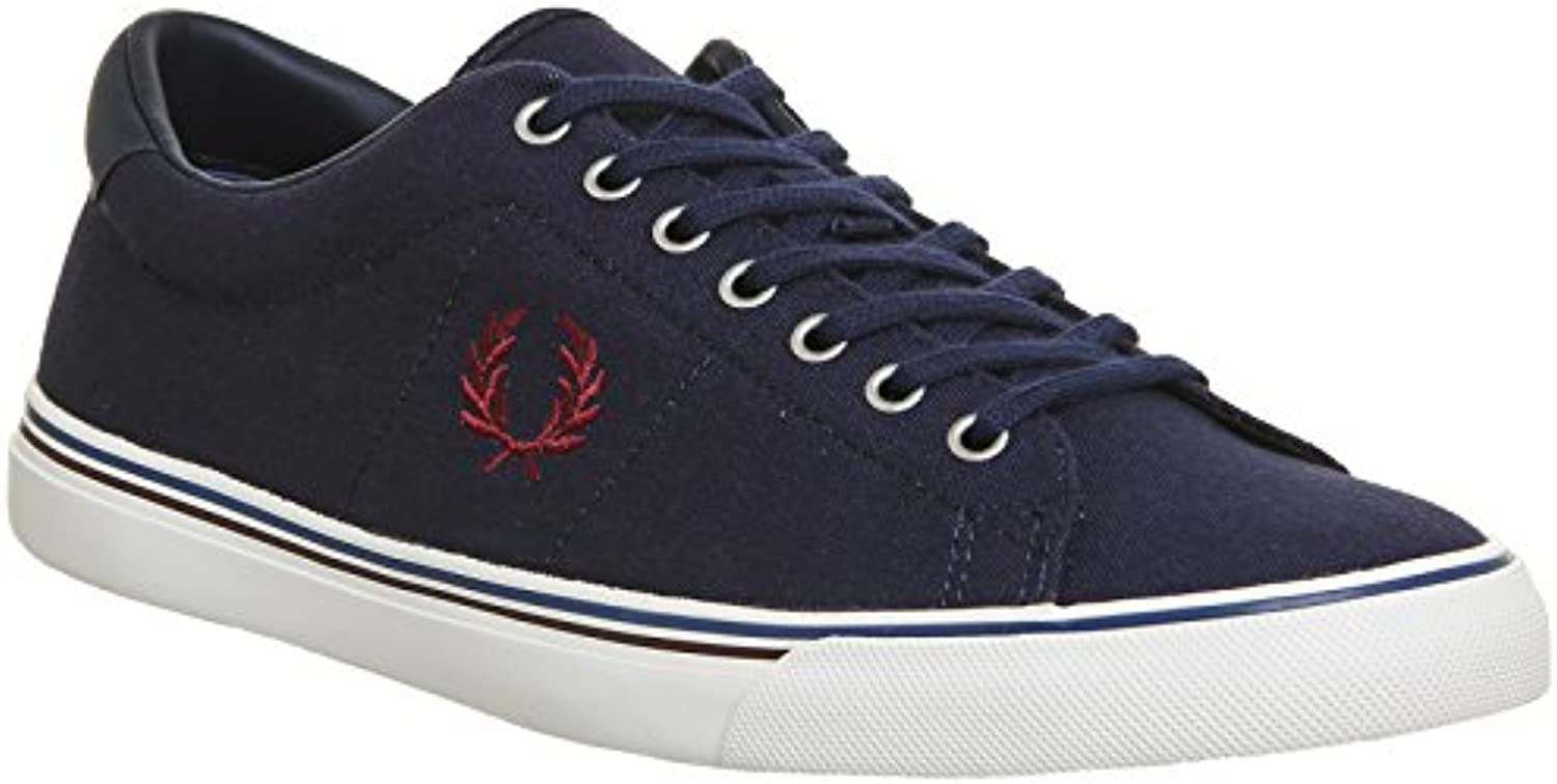 Fred Perry Underspin Canvas Carbon Blue B9090C88  Turnschuhe