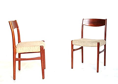 Upper-One Pair Chair Dining Chair Teak wood modern Design vintage Chair
