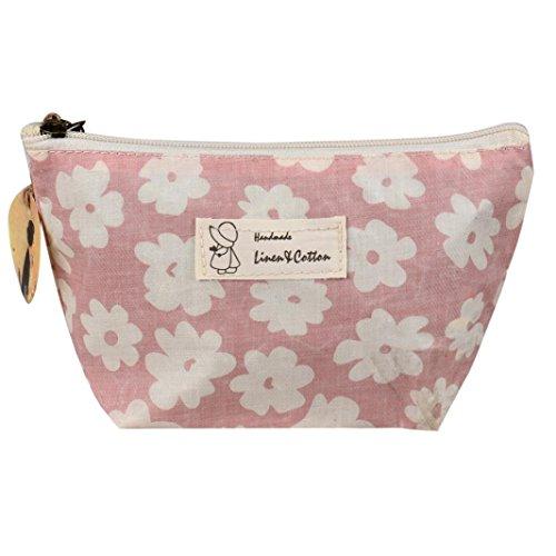WOCACHI Kosmetiktasche Sakura Make-up Kosmetik Beutel Handtaschen beweglicher Spielraum Toilettenartikel Taschen Make-Up Etuis Kosmetikkoffer (Schöne Leopard Kit Zubehör)