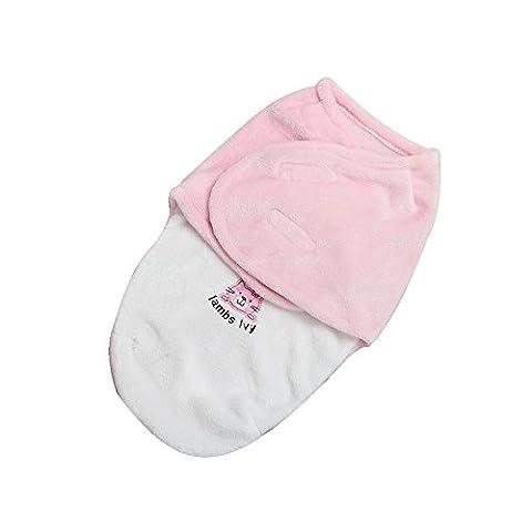 Harson&Jane synthèse de qualité supérieure bébé moelleux couverture couverture de litière emmailloter (50×32 cm, Rose)