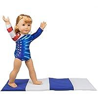 Dress Along Dolly Tenue de gymnastique et tapis fixés pour poupées American  Girl 2 Pcs poupée a1657c12471