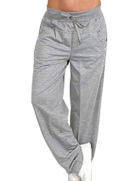 Hombre Pantalones Largos de Yoga, Pilates, Fitness, Entrenamiento, Informal, Salón, Sueño, Pantalones de Artes...