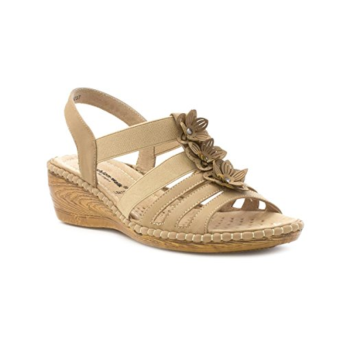 Cushion Walk , Damen Sandalen Beige