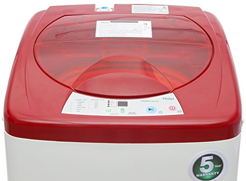 Haier 58-020-R Fully-automatic Top-loading Washing Machine (5.8 Kg, Red)
