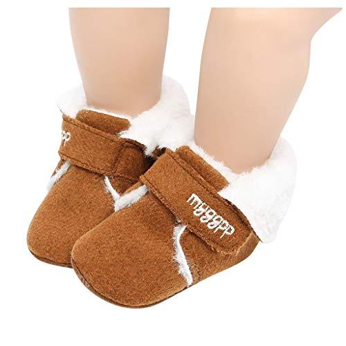 Berimaterry Bowknot Zapatos Primeros Pasos para Bebé Mantener Caliente Suela Suave Nieve Botas Cuna...
