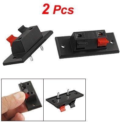 SODIAL (R) 2 pezzi rosso e nero piastra Morsetto (Due Fori Piastra)