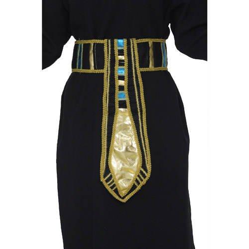 Zubehör Cleopatra Kostüm - PARTY DISCOUNT Gürtel Ägypter, Gold-schwarz-blau