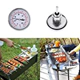Best Bbq Pits - ELECTROPRIME 63mm 0-120°C Barbecue BBQ Pit Smoker Grill Review