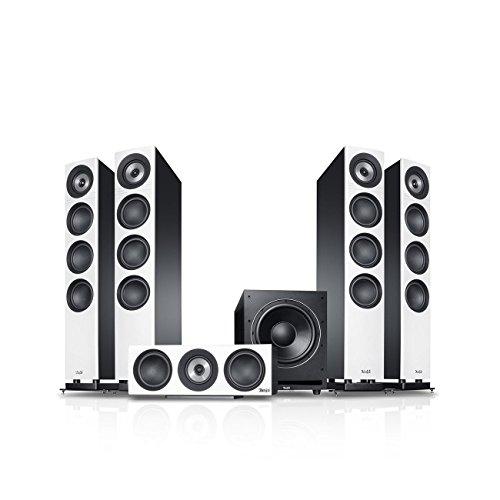 Teufel Definion 3 Surround Power Edition 5.1-Set Weiß/Schwarz Heimkino Lautsprecher 5.1 Soundanlage Kino Raumklang Surround Subwoofer Movie HiFi