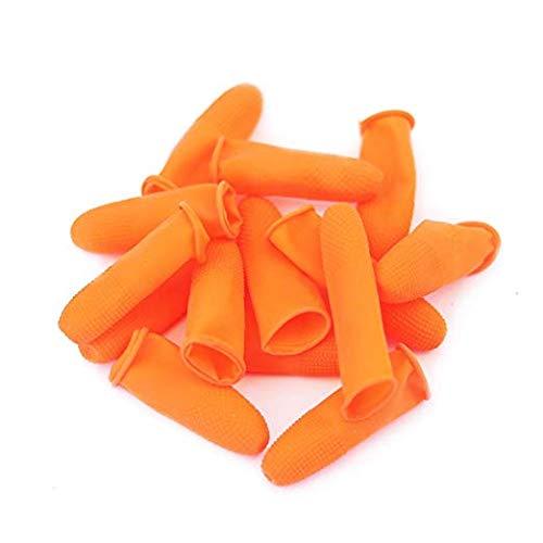 100 protectores silicona antiadherentes dedos gel