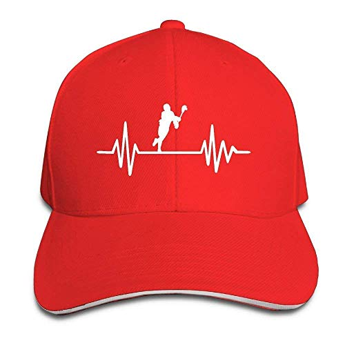 WBinHua Hüte caps Lacrosse Heartbeat Adult Adjustable Snapback Hats Dad Hat Unisex