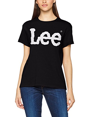 Lee Damen T-Shirt Logo Tee, Schwarz (Black Ep01), Medium (Lee T-shirt Hat)