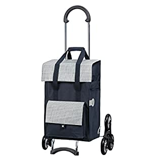 Andersen Shopping trolley Scala with bag Milla blue, Volume 49L, steel frame and Stair-climbing wheels