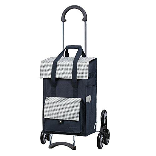 Sondermodell Andersen Einkaufstrolley Scala als Treppensteiger & Einkaufstasche Milla blau | Einkaufswagen mit leichgängigem 3-Rad | Trolley Gestell Stahl