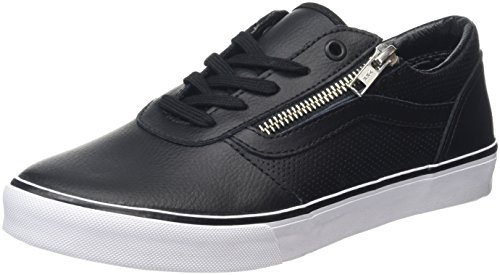 Vans Milton Zip, Baskets Basses Femme Noir (Perf Leather Black)