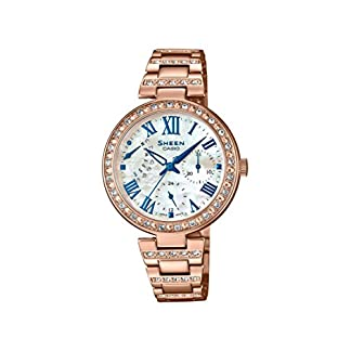 Casio Sheen Analog Mother of Pearl Dial Women's Watch – SHE-3043BPG-7AUDR (SH194)