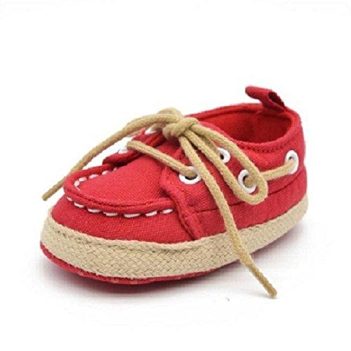 OverDose Baby-Kind Kid Jungen-Mädchen-weiche Sohle-Turnschuh Kleinkind -Schuhe. Junge Mädchen Kleinking 0-6 Monate 6-12 Monate 12-18 Monate Rot