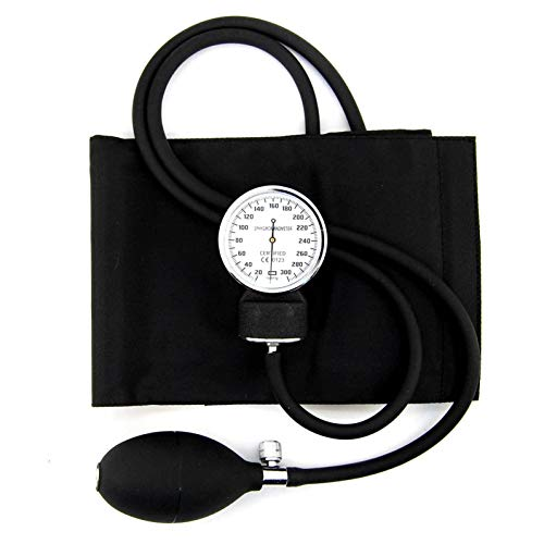 Standard-aneroid (Kit Messgerät Blutdruck Profi mit Armband, Blutdruckmessgerät Aneroid Und Tasche mit Reißverschluss)