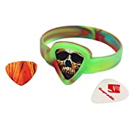 Homyl Guitar Replacement Plectrums Picks + Pick-holding Wristband Novelty Guitar Accessory for Guitarist Kids