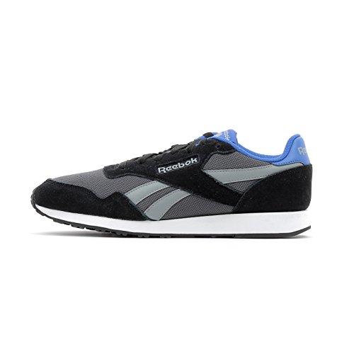 Reebok Royal Ultra, Baskets Basses Homme Black / Ash Grey / Flint Grey / Vital Blue