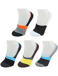Vococal® 5 Pairs Chaussettes de Coton Silicone Court pour Hommes