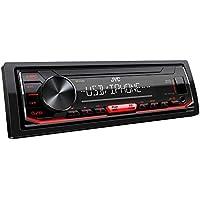 JVC KD-X262 - Autoradio USB con RDS (sintonizzatore ad alte prestazioni, MP3, WMA, FLAC, ingresso AUX, controllo Android/Apple, Bass Boost, 4 x 50 Watt), colore: Nero