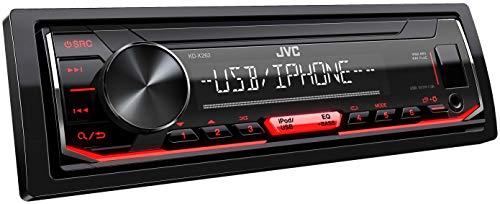 radio mit RDS (Hochleistungstuner, MP3, WMA, FLAC, AUX-Eingang, Bass Boost, 4x50 Watt, Rot) Schwarz ()