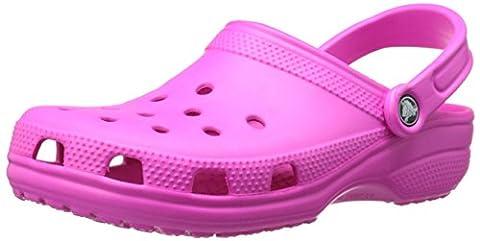 Crocs Classic, Unisex-Erwachsene Clogs, Pink (Neon Magenta), 39/40 EU ( US: M7/W9)