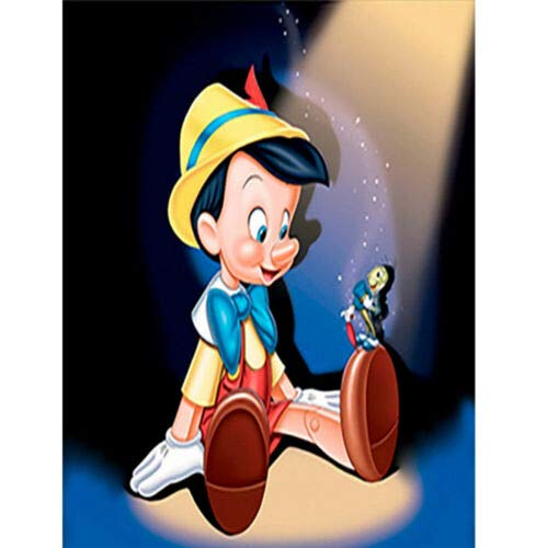 Full Drill 5D Diamond Painting Embroidery Cross Craft Kits Art Mickey Characters J719 Pinocchio 30 * 40CM