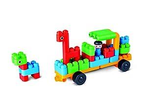 PolyM 760006ciudadores de Animales & Coches Niños Pequeños de Juguete, Flexible y rundkantige Ladrillos