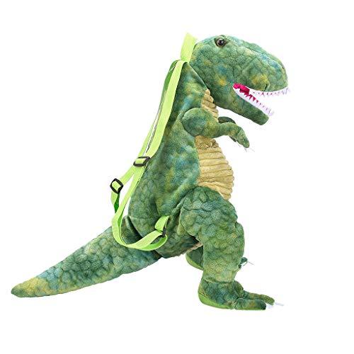 Tinkerbell Teenager Kostüm Mädchen - EVAEVA-bags 3D Rucksack & Kuscheltie Dinosaurier Tyrannosaurus Rex Plüsch Kinderrucksack/Plüschtier - für Kinder & Erwachsene Spielzeug Taschen für Mädchen Junge (Braun Grün)