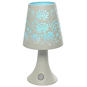 battery powered cordless colour changing led rose touch table desk lamp light white. Black Bedroom Furniture Sets. Home Design Ideas
