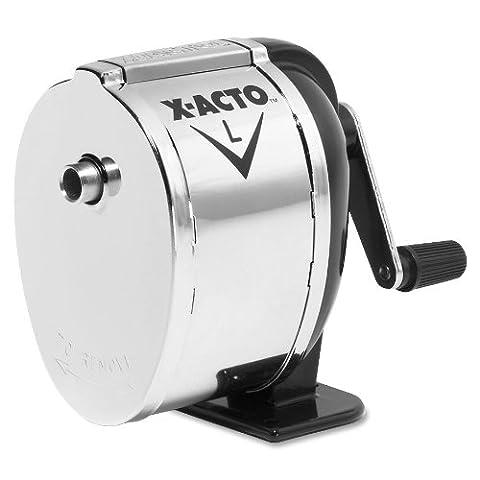 X-ACTO L Table-Support/fixation murale-Taille-crayon manuel-Noir/chromé